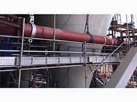 Tube and coupler scaffold for power station in Indonesia
