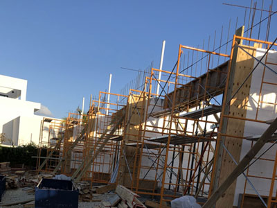 Frames for Cayman Island building construction